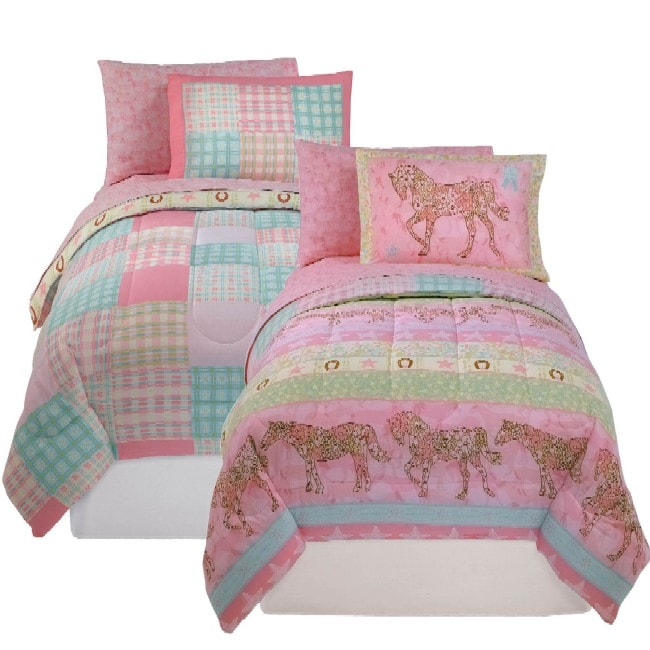 Cow Girl Pink 5-piece Bed in a Bag