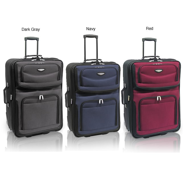 Amsterdam Lightweight 29-inch Rolling Upright Suitcase | Overstock.com :  travel vacation baggage amsterdam lightweight rolling upright suitcase