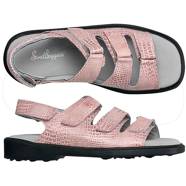 Sandbaggers Lucy Pink Lizard Ladies Golf Shoes