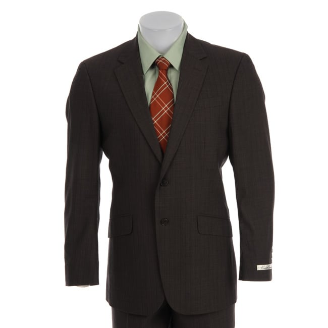 Overstock - Kenneth Cole Men Slim Collection Wool Suit - $149.99