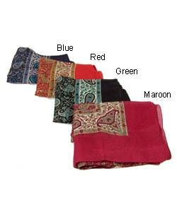 Hand-made Paisley Silk Scarves (India)