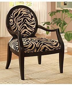 Zebra Print Oval Back Chair