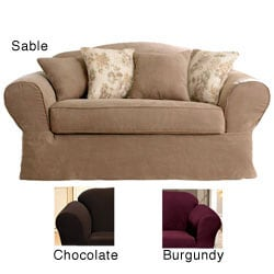 Sure Fit Suede Supreme Washable Sofa Slipcover