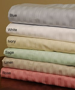 Damask Stripe 600 Thread Count Sheet Set