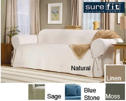 Sure Fit Classic Cotton Washable Sofa Slipcover