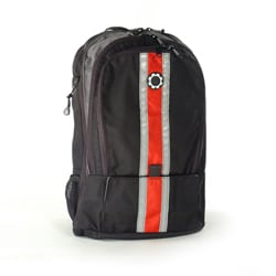 DadGear Red Center Stripe Diaper Backpack.