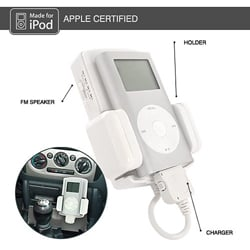 SA-12188C-IPBK 3-in-1 FM Transmitter/ iPod Charger