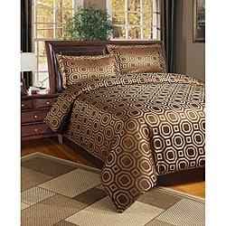 Graphix 3-piece Chocolate Duvet Cover