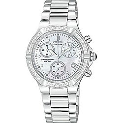 Citizen Eco-Drive Riva Women's Diamond Chronograph Watch.