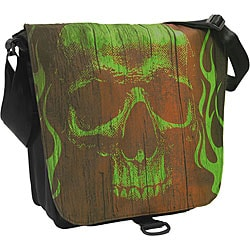 DadGear Lime Skull Satchel Diaper Bag.