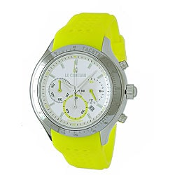 Le Chateau Men's Yellow Strap Chronograph Watch.