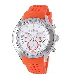 Le Chateau Men's Salmon Sports Chronograph Watch.