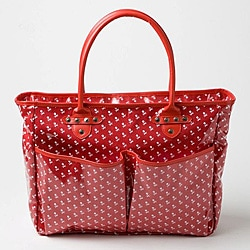 Rock N Mom's Chic Jett's Red Skull Tote/ Diaper Bag.