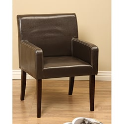 Jovita Brown Leather Chair.