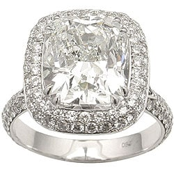18k Gold 6 1/3ct TDW Certified Diamond Ring (H, VS2) (Size 6.5)