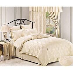 Petal Vine 7-piece Queen Jacquard Comforter Set