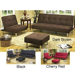 Roper Armless 3-piece Sofabed/ Loveseat Collection