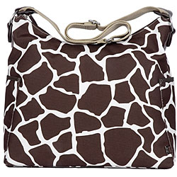OiOi Cocoa Giraffe Hobo-style Diaper Bag.