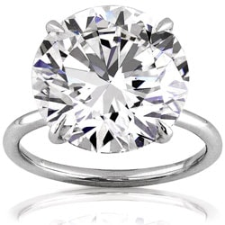 Platinum 10 1/10ct TDW GIA Certified Diamond Ring (G, VS1) (Size 6.5)