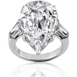 Platinum 11 3/5ct TDW Certified Diamond Ring (F, VS2) (Size 6.5)