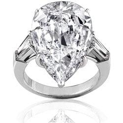 Platinum 11 3/5ct TDW Certified Diamond Ring (F, VS2) (Size 6.5)