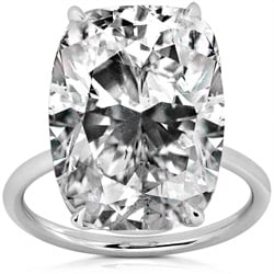 Platinum 10 2/3ct TDW GIA-certified Diamond Ring (E, VS2) (Size 6.5)