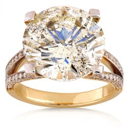 18k Gold 10ct TDW Certified Diamond Solitaire Ring (I, SI2) (Size 6.5)
