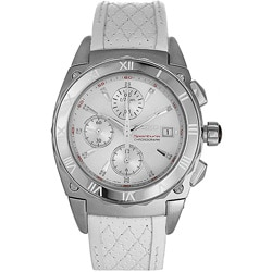Seiko Sportura Women's Diamond White Leather Strap Watch.