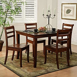Louis Phillip 5-piece Cherry Finish Dinette Set