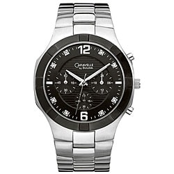 Caravelle by Bulova Men's Black Chronograph Watch.