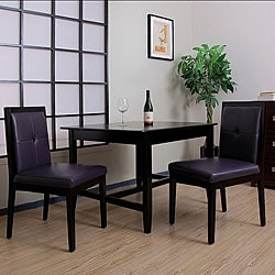 Pax Eggplant Leather Dining Chairs (Set of 2).