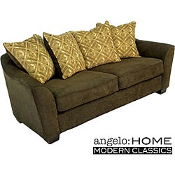 angelo:HOME Cooper Pillow Back Sofa Twillo Java Brown.