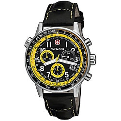 Wenger Men's Swiss Military Commando SR Black and Yellow Watch.