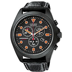 Citizen Men's Eco-Drive Black Chronograph Watch.