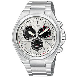 Citizen Men's Eco-Drive Stainless Steel White Dial Watch.