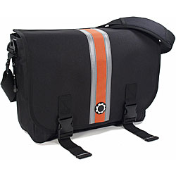 DadGear Messenger Orange Striped Diaper Bag.