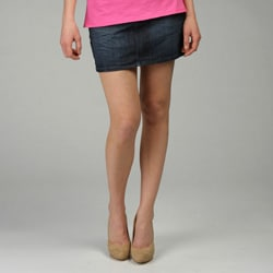 Anoname Women's Flap Pocket Denim Mini Skirt