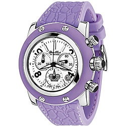 Glam Rock Women's Miami Lilac Silicone Chronograph Watch.