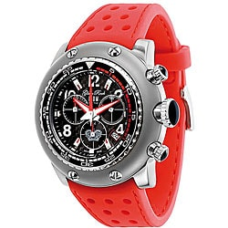 Glam Rock Men's Miami Red Silicone Watch.