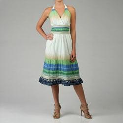 Kaktus Sportswear Women's Ombre Halter Maxi Dress