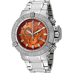 Invicta Men's 'Subaqua' Orange Dial Chronograph Watch.