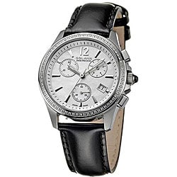 Golana Swiss Women's 'Aura Pro 200' Black Strap Diamond Watch.