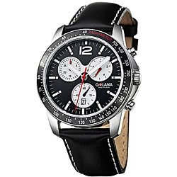 Golana Swiss Men's 'Terra Pro 200' Steel Case Leather Strap Watch.