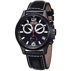 Golana Swiss Men's 'Aero Pro 200' Black Strap Chronograph Watch.