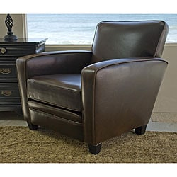 Bradley Espresso Brown Leather Chair.