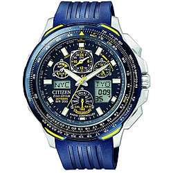 Citizen Men's Eco-Drive 'Blue Angels SkyHawk' Chronograph Watch.