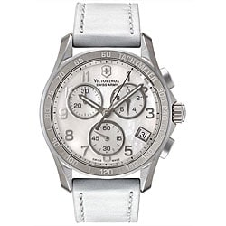 Swiss Army Women's Mother of Pearl Chronograph Watch.