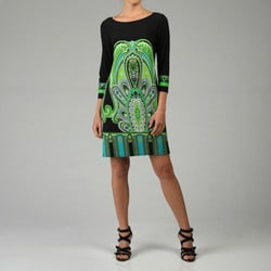 Tiana B. Women's Green Jersey Dress