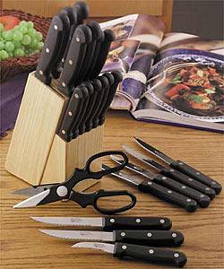 Overstock - Diamond Cut 22-Piece Cutlery Set - $19.99